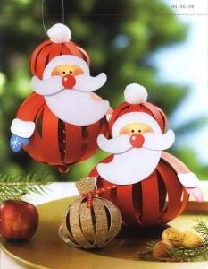 Дед Мороз в технике бумажных шаров